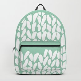 Half Knit Mint Backpack