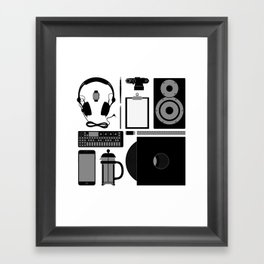 Studio Objects Vector Illustration Framed Art Print