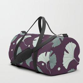 Blue gingko biloba Duffle Bag