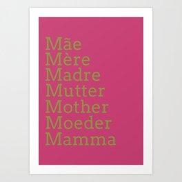 Mater - Pink Peacock Art Print