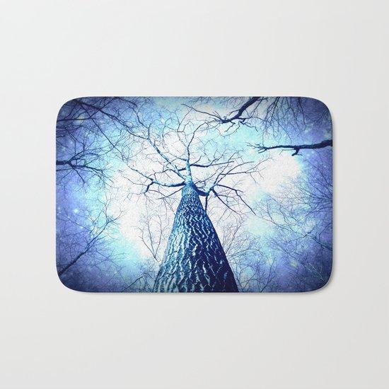 Winter's Coming : Wintry Trees Galaxy Skies Bath Mat