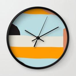 Mid Century Print, Minimalist Print, Mid Century Modern, Modern Print, Modern Art, Minimalist Art, S Wall Clock