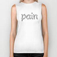 pain Biker Tanks featuring Pain by Emma Harckham