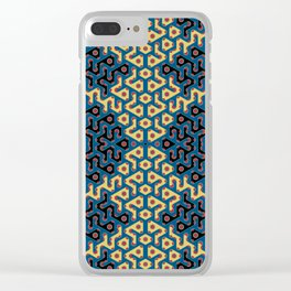 Squiggle Trails Most Awesome Yellow Red Blue and Black Clear iPhone Case