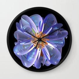 Purple & Gold Flower Wall Clock