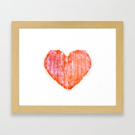 Pop Art Style Grunge Graphic Heart Framed Art Print
