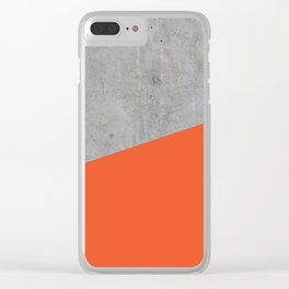 Concrete and Flame Color Clear iPhone Case