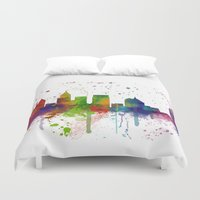atlanta Duvet Covers featuring Atlanta Skyline by Marlene Watson