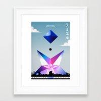 neon genesis evangelion Framed Art Prints featuring Neon Genesis Evangelion - Angel 05: Ramiel by MNM Studios