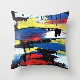 Colorful Art Abstract Paintings Modern Watercolor Robert R Splashy Art Throw Pillow