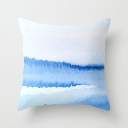 Abstract Stream Throw Pillow