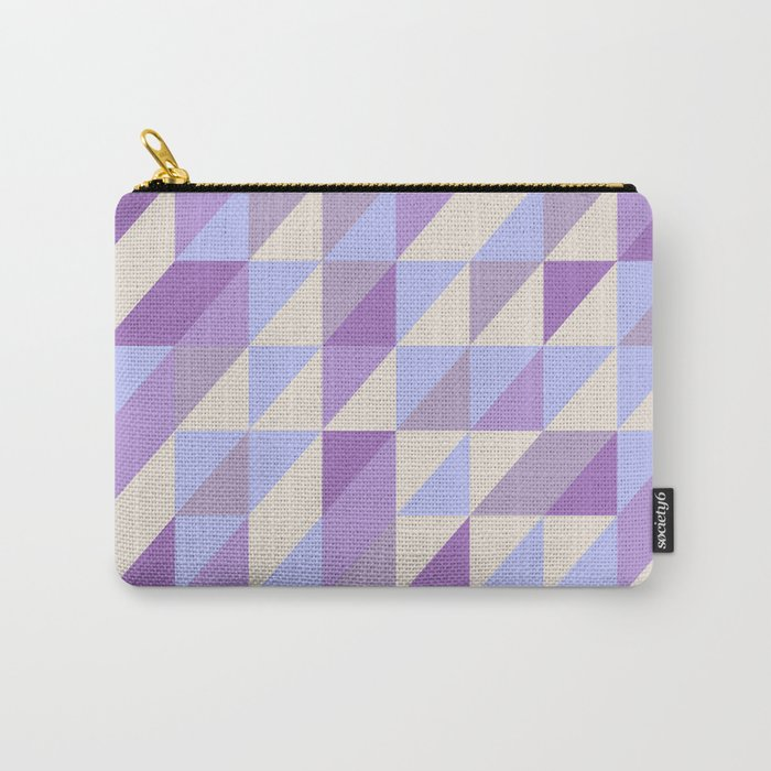 Purple n Hashed Carry-All Pouch
