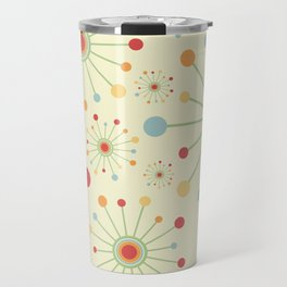 Mid Century Modern Retro 1970s Inspired SunBurst in Muted Colors Travel Mug