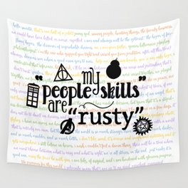 """My """"People Skills"""" are """"Rusty"""" Wall Tapestry"""