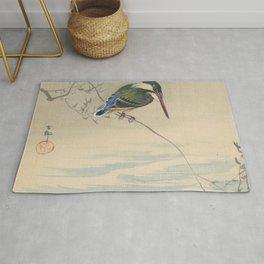 Kingfisher - Ohara Koson (ca. 1920) Rug
