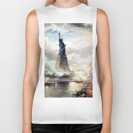 Statue of Liberty Unveiling Biker Tank