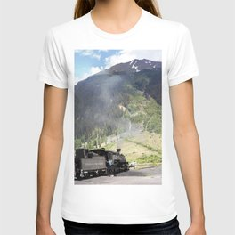 Waiting Under the Towering 13,066-foot Kendall Mountain T-shirt