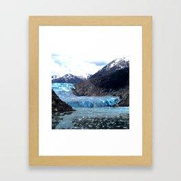 Hollowing Glacier Framed Art Print