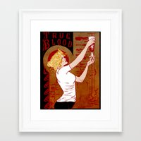 true blood Framed Art Prints featuring True Blood Nouveau by Nana Leonti