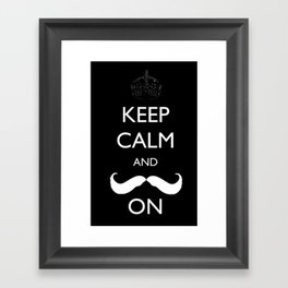Mustache Framed Art Print