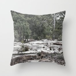 Rugged rocky bushland view Throw Pillow