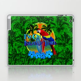 Island Time Surfing Palm Trees Laptop & iPad Skin