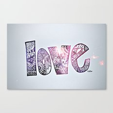 love is all you need. (galaxy) Canvas Print