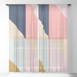 Geometric Pattern IX Sheer Curtain
