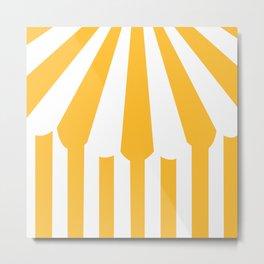 yellow tent Metal Print