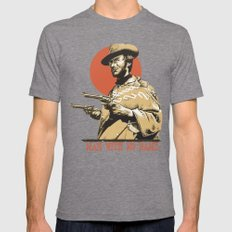 Man With No Name Mens Fitted Tee Tri-Grey MEDIUM