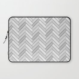 black and white geometric pattern, graphic design Laptop Sleeve