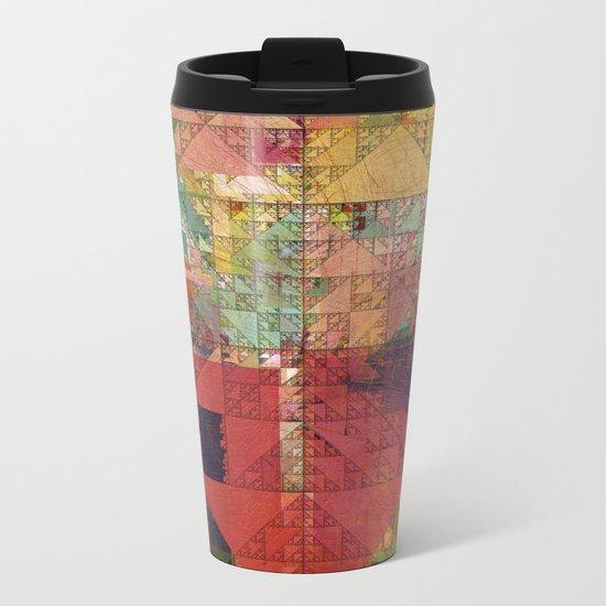 Aztec Vintage Pattern 09 Metal Travel Mug