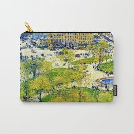 Classical Masterpiece 'Union Square in Spring' by Frederick Childe Hassam Carry-All Pouch