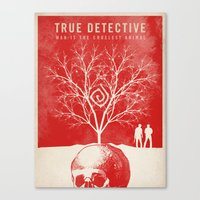 true detective Canvas Prints featuring TRUE DETECTIVE by Fan Prints