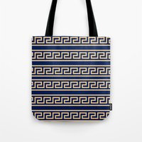 greek Tote Bags featuring Greek by Mr and Mrs Quirynen