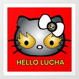 Hello Lucha Art Print