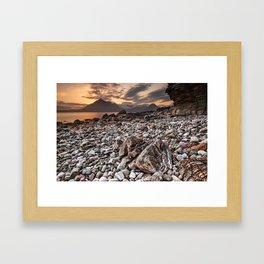 Beach lac Ecosse 4 Framed Art Print