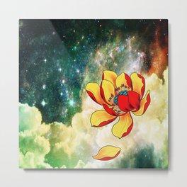 Galaxy Lotus Metal Print