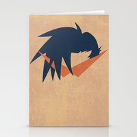gurren lagann Stationery Cards featuring Minimalist Kamina by 5eth