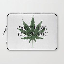 Don't Panic It's Organic Vintage Cannabis Print Laptop Sleeve