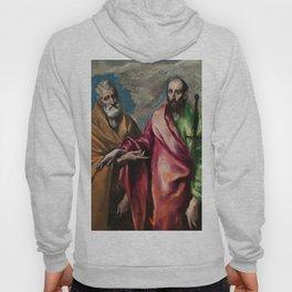 "El Greco (Domenikos Theotokopoulos) ""Saint Peter and Saint Paul (1590-1600)"" Hoody"