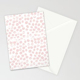 Textured polka dots dotted pattern decor minimal modern nursery baby gender neutral Stationery Cards