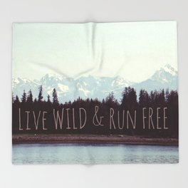 Wild & Free | Mountain Landscape Nature photograph Throw Blanket