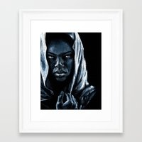 african Framed Art Prints featuring African by elenachukhriy