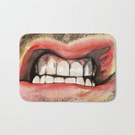 Gritted Teeth Bath Mat