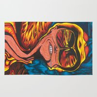 fear and loathing Area & Throw Rugs featuring Fear and Loathing  by Katrina Berkenbosch