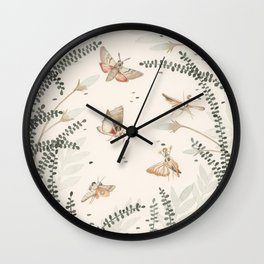 A Whisper of Moths Wall Clock