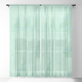 Blue Gray Cotton Fluff Sheer Curtain