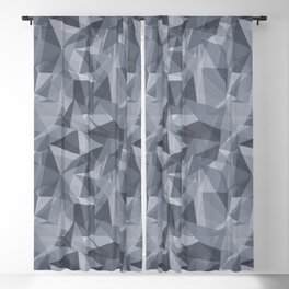 Abstract Geometrical Triangle Patterns 3 Illuminated Violet - Twilight Mist - Carousel Purple Blackout Curtain