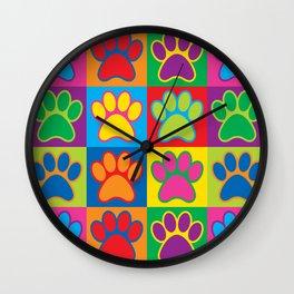 Pop Art Paws Wall Clock